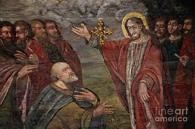 Photograph - Jesus Christ Teaching His Apostles by Elzbieta Fazel