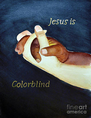 Painting - Jesus Is Colorblind by Allison Ashton