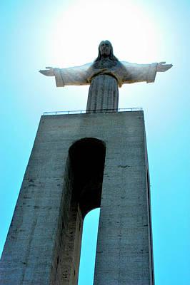 Music Figurative Potraits - Jesus over Lisbon 2 by Derek Moore