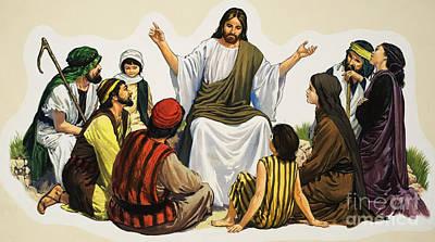 Painting - Jesus Teaching  by English School