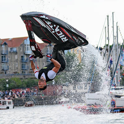 Photograph - Jet Ski Acrobatics by Colin Rayner
