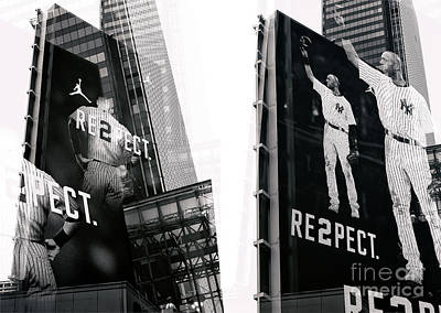 Photograph - Jeter Re2pect Billboard Collage New York City by John Rizzuto
