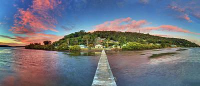 Photograph - Jetty Sunrise Panorama by Steve Daggar Photography