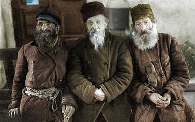 Musicians Royalty Free Images - Jewish musicians in a Galician shtetl Royalty-Free Image by Artistic Panda