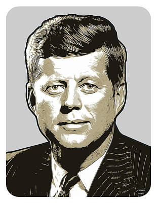 Digital Art - Jfk by Greg Joens