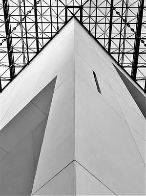 Photograph - J F K Skylight 15 B W by Rob Hans