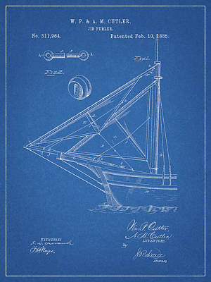 Drawing - Jib Furler Patent by Dan Sproul