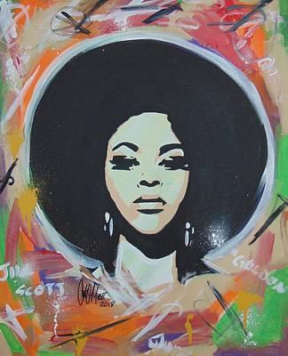 Painting - Jill So Beautiful by Antonio Moore