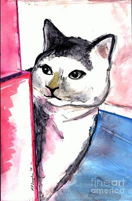 Chartreux Wall Art - Painting - Jills Kitty by Patty Donoghue
