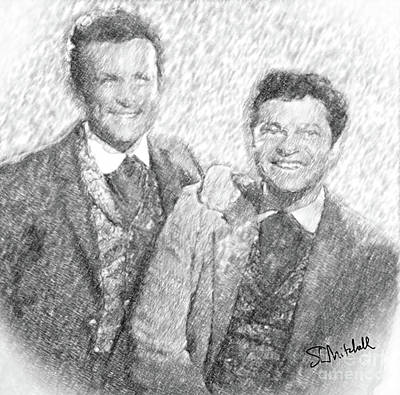 Drawing - Jim And Artimus by Stephen Mitchell