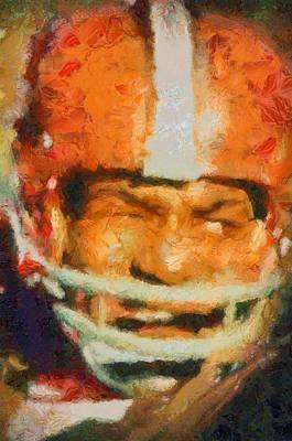 Painting - Jim Brown by Dan Sproul