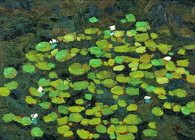 Painting - Jim Day Lily Pads by Phil Chadwick