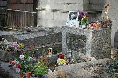Photograph - Jim Morrison's Grave by Jim Mathis