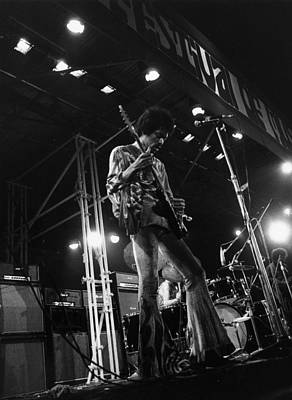 Photograph - Jimi At Festival by Evening Standard