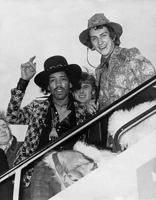 Photograph - Jimi Hendrix And Mitch Mitchell London by Keystone-france