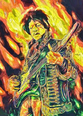 Katharine Hepburn - Jimi Hendrix art by Nenad Vasic