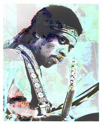 Mixed Media - Jimi Hendrix by David Ridley