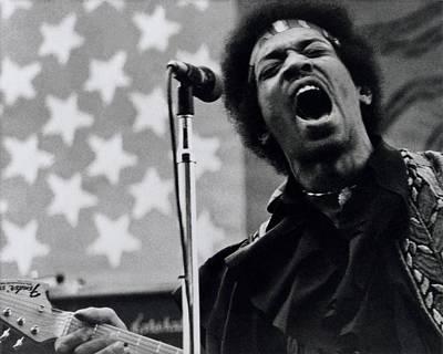 Photograph - Jimi Hendrix Live by Larry Hulst