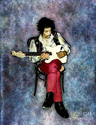 Digital Art - Jimi Hendrix Solo by Walter Neal