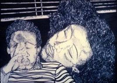Drawing - Jimmi And I by Delorys Tyson