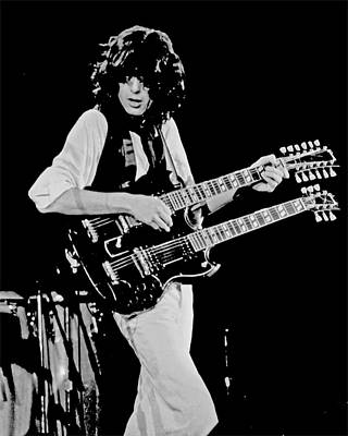 Photograph - Jimmy Page At The A.r.m.s by Larry Hulst