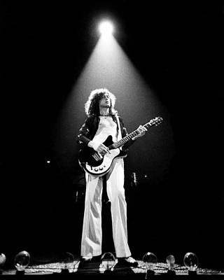 Photograph - Jimmy Page Live by Larry Hulst