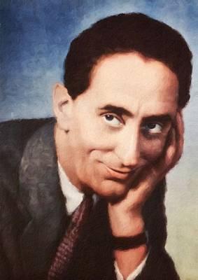 Painting - Jindrich Plachta, Portrait Of Czechoslovak Actor by Vincent Monozlay