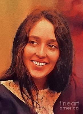 Music Royalty-Free and Rights-Managed Images - Joan Baez, Music Legend by John Springfield