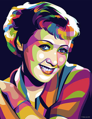 Royalty-Free and Rights-Managed Images - Joan Blondell by Stars on Art