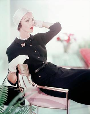 Photograph - Joan Friedman In Harry Frechtel by Horst P. Horst