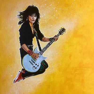 Painting - Joan Jett by Joel Tesch