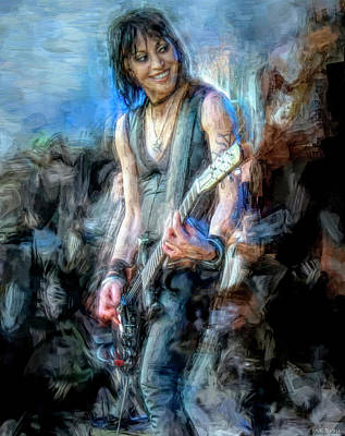 Musicians Mixed Media Royalty Free Images - Joan Jett Royalty-Free Image by Mal Bray