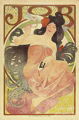 Painting - Job  Vintage Poster By Mucha by Alphonse Marie Mucha