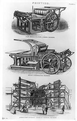 Jobbing Machine Art Print by Hulton Archive