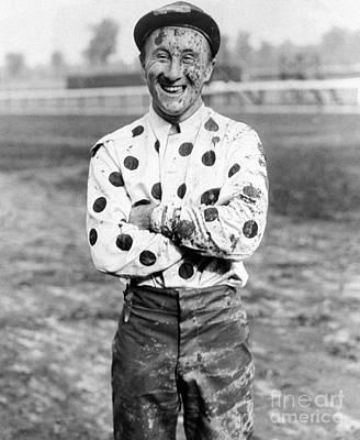 Photograph - Jockey Jimmy Stout Is Covered With Mud by New York Daily News Archive