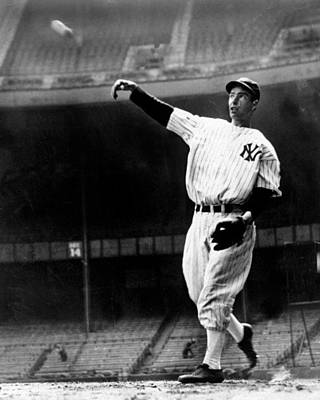 Photograph - Joe Dimaggio Working Out At Yankee by New York Daily News Archive
