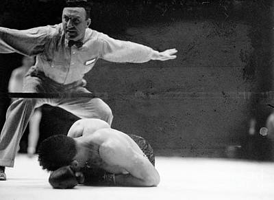 Photograph - Joe Louis Versus Max Schmeling I, Louis by New York Daily News Archive