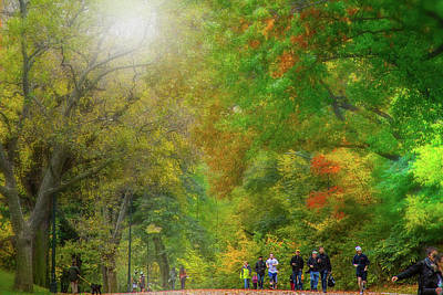 Nirvana - Jogging in Central Park by Mark Andrew Thomas
