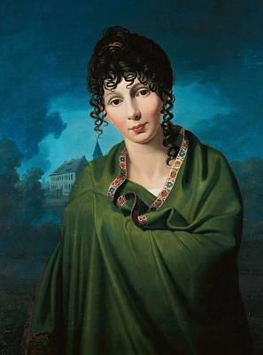 Painting - Johann Friedrich Bury - Countess Luise Von Voss 1810 by Johann Friedrich Bury