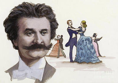 Painting - Johann Strauss The Younger by Ralph Bruce