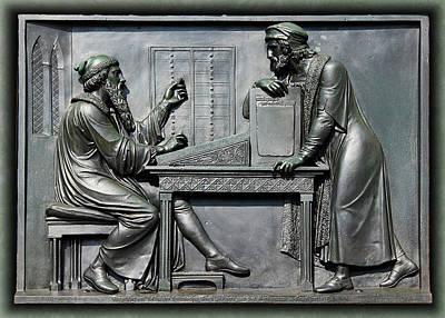 Photograph - Johannes Gutenberg Bas Relief by Debi Dalio