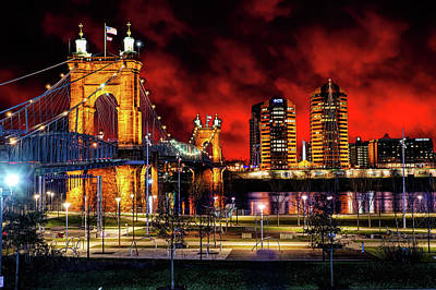 Photograph - John A. Roebling Bridge by Ed Taylor
