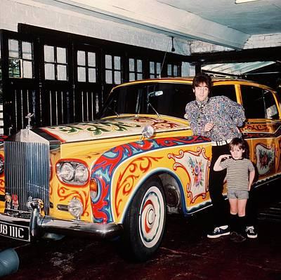 Beatles Photograph - John And Julian Lennon In Liverpool by Keystone-france