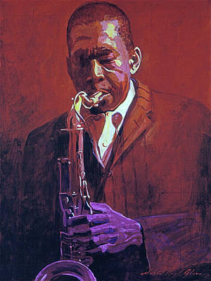 Musicians Royalty-Free and Rights-Managed Images - John Coltrane by David Lloyd Glover