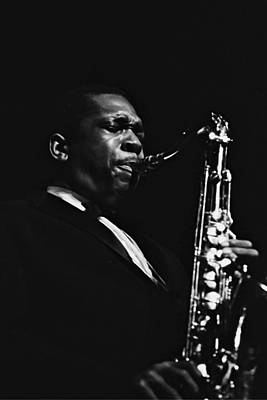 Photograph - John Coltrane In Paris, France In 1960 - by Herve Gloaguen