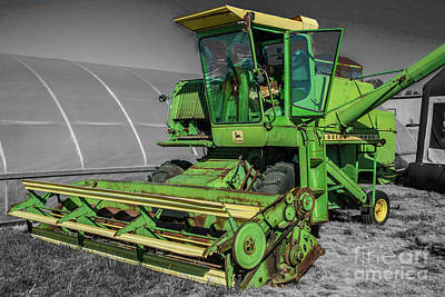 Photograph - John Deere 4400 by Tony Baca