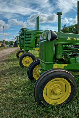 Art Print featuring the photograph John Deer's In A Line by Mark Dodd