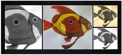 Black Wall Art - Painting - John Dory - Multi by Joan Stratton