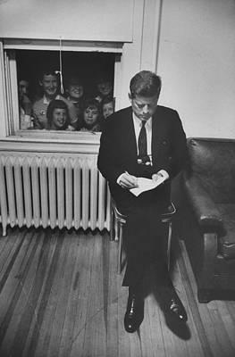 Photograph - John F. Kennedy by Paul Schutzer