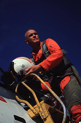 Photograph - John Glenn by Bill Ray